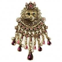 Broszka z kotem Elizabethan Feline