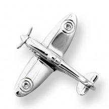 Srebrna spinka do krawata samolot