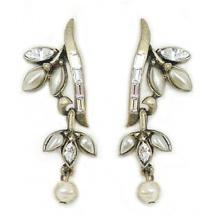 Kolczyki z kryształami i perłami