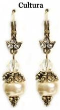 Kolczyki z perłą Baroque Pearls  Crystal